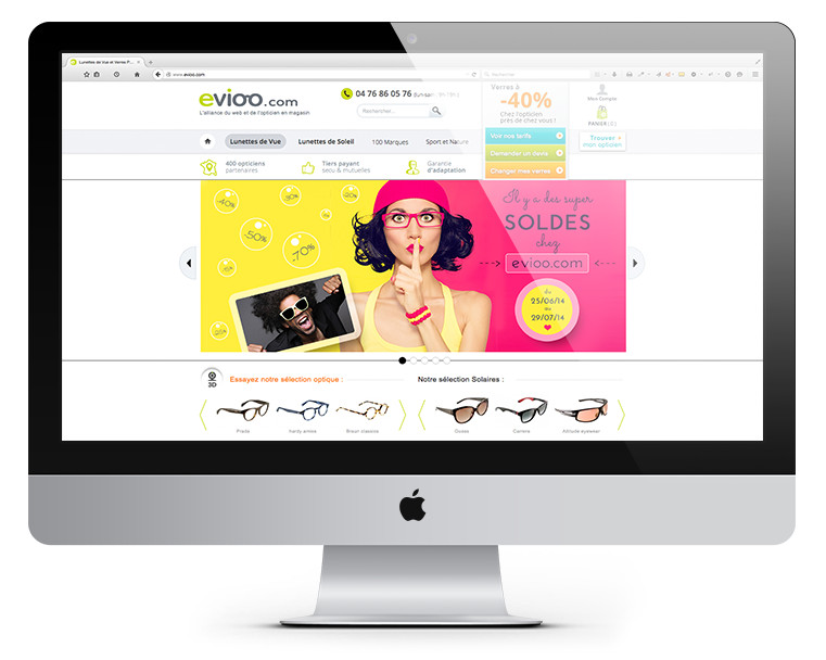 Site e-commerce drive-to-store de lunettes